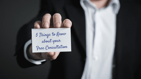 5 things to know about FREE consultation