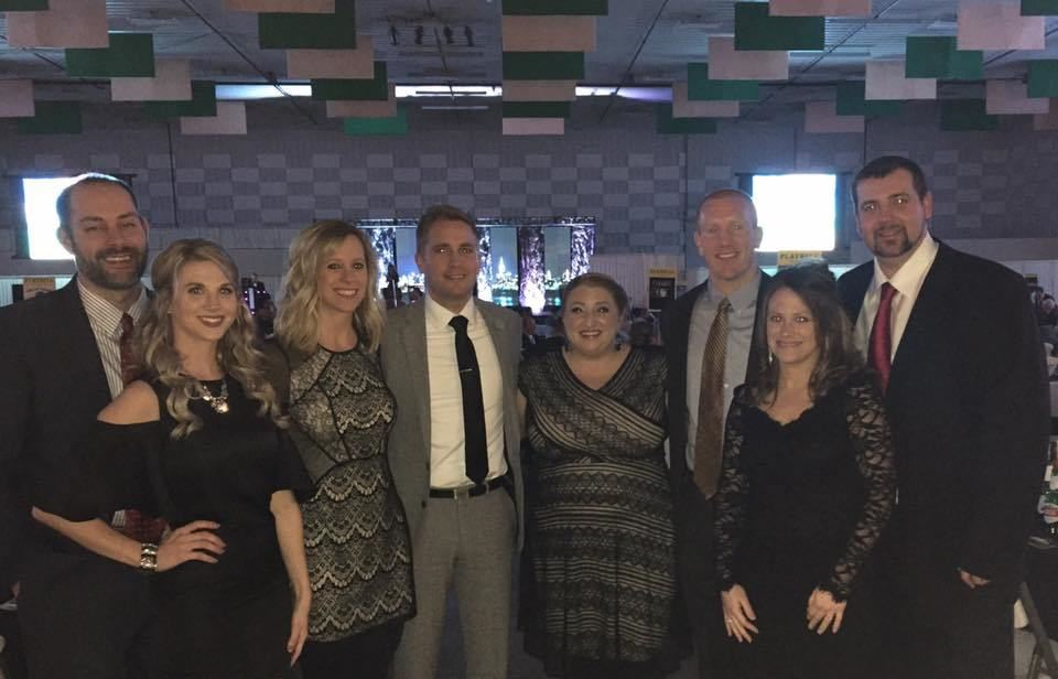 Sam C. Mitchell & Associates staff members attending Hospice of Southern Illinois Gala