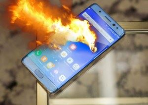 exploding Samsung Note 7